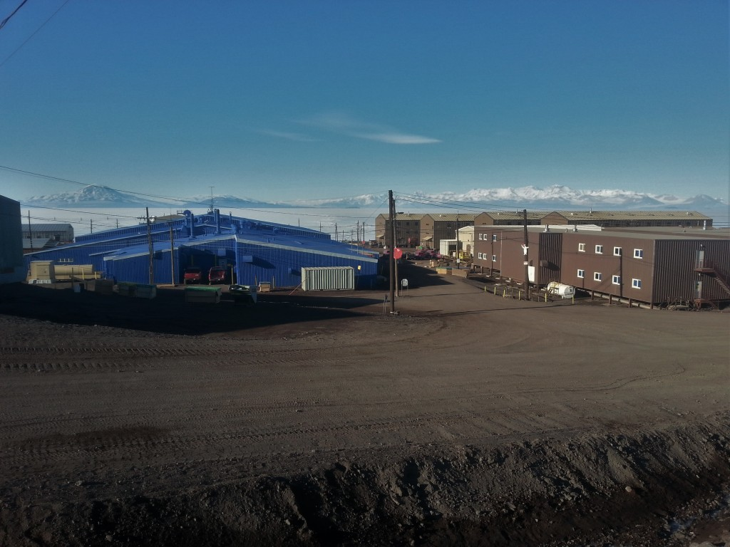 Now approaching the height of summer, McMurdo is completely snow and ice free.