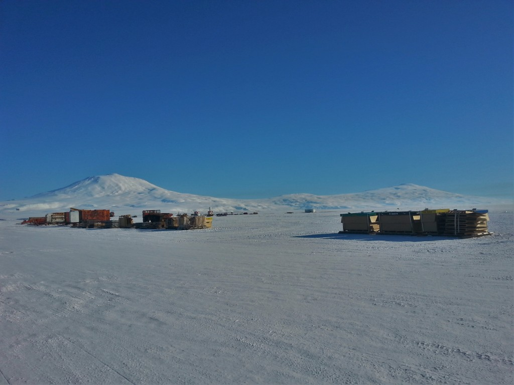A last view of Mt Erebus before boarding the LC-130 Hercules back to Christchurch.