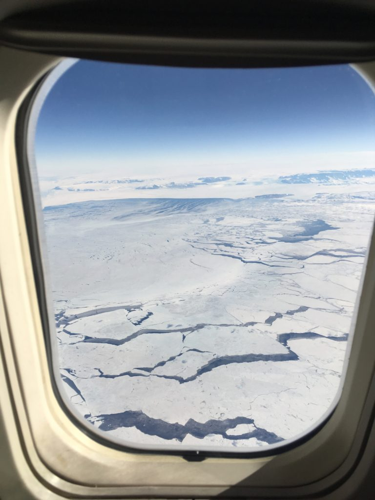 The edge of the Ross Icehself from the flight south to McMurdo Station